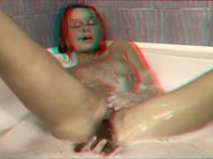 Sexy Girl Toying With Dildo In Bath 3d Movies