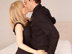 Clothed Mature Blonde Kissing In Bedroom Movies