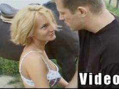 Pornstar Greta Milos Kissing On Farm Movies