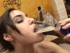 Gorgeous Girl Drinking Jizz In Gangbang Movies
