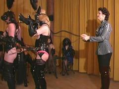 F Slave In Latex Lingerie Whipped Ponyplay Movies