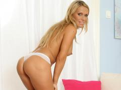 Pretty Mature Blonde Shows Ass In Thong Movies