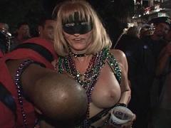 Sexy Drunk Blonde Shows Huge Tits In Bar Movies