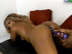 Ebony Lesbian Plays With Lotion & Muffdived Movies