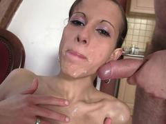 Slim Girl Riding Cock & Messy Facial Movies