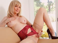 Mature Blonde In Lingerie Showing Pussy Movies