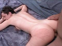 Horny Biker Finger-fucking A Short-haired Cheerleader.