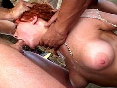 Cute Redhead Gets Her Tight Throat Gagged By A Thick Stick O...