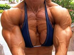 Massive And Ultra Ripped Muscle Babe