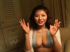 Yuma Asami Asian In Sexy Lingerie Touches Her Boobs And Beaver