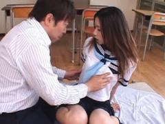 Jav Asian Doll Has Vagina Licked Sitting Over Classroom Benches