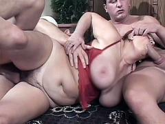 Mature Lady Jakie Still Wears Her Red Bra While Getting Fuck...
