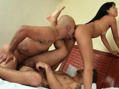 Kelly Joins Two Bisexual Guys In A Hot MMF Threesome And Get...