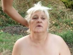 Chubby Mature Anna Mary Kneels Down To Give A Blowjob And Go...