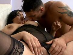 Stockinged Babe Plumper Luana Loving A Good Pounding In The ...