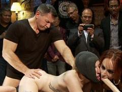 Ela Darling Is Bound And Humiliated In Public By Kinky Coupl...