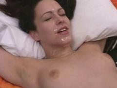 Smooth Small Tits Dark-Haired Babe Enjoying The Warm Goo Squ...