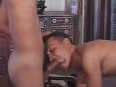 Lustful Slim Gay Twinks Double Penetrating Action While Stan...