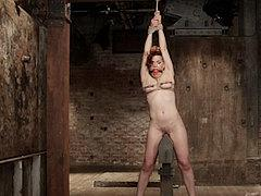 Ingrid Mouth In Tight Tit Bondage With Heavy Clamps Is Toy F...