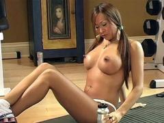 Kimmy-Lee Gets Hot & Sweaty Working Out Her Tight Asian Body...