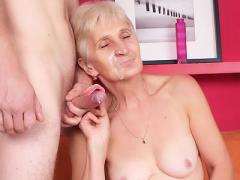Horny Granny With A Wrinkled Ass Shows Off Her Dentures And ...