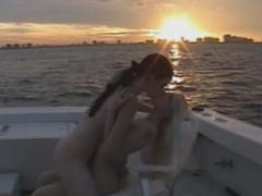 Naked Lesbo Babes Loves Licking Tits In A Yacht
