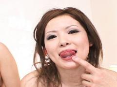 Naami Hasegawa Asian With Long Nails Gets Fingers In Juicy Pussy