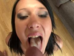 Angelica Black Strips And Gives A Blowjob In POV