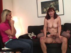 Hot Wife Lets Her Mom Give Her Husband Head And Bend Over To Take Him In Her Old Pussy
