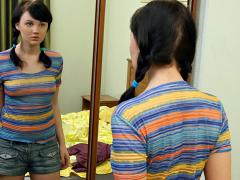Teen Tanna Examines Her Fresh Body In The Mirror