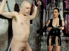 Mistress Asha Bounds A Hot Bald Sutff And Starts Playing Wit...