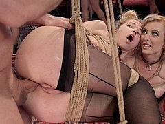Alina West Bound Sub Fucked With Cherry Torn At Kinky Bdsm P...