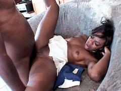 Beautiful Black Having Her Cheerleader Cunt Stuffed