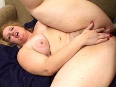 Fat Blonde Knobbed While Sucking Cock