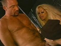 Nasty Blonde Bitch In Mad Tongue Licking And Sucking Bisexua...