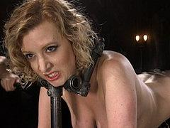 Cherry Torn In Device Bondage Is Toyed And Spanked By The Po...