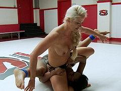 Layton Benton Ebony In Catfight Dominated By Lezdom Holly He...