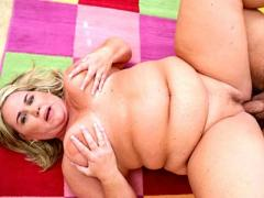 Chubby Blonde Plumper Rylee Bbw Adores Her Fat Pussy Being L...