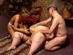Horny Girl And Man Dildos Fat Pussy In Wild Orgy
