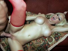 XXX Videos Of Busty Davia Ardell In Red Fishnet Hold Ups Fuc...