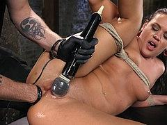 Roxy Raye Is Bound With Red Ballgag Toyed And Fisted By The ...