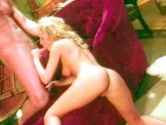 Blonde Slut Savors The Fully-Erected Monster Cock In A Blowj...