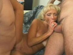 Slim Nicely Tanned Granny Hornily Sucking And Fucking Meaty ...