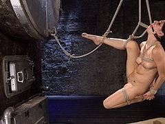 Nikki Knightly Is Dungeon Bound In Rope And Pussy Made To Or...