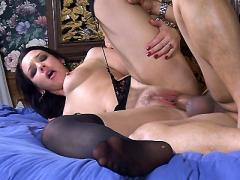 Pretty Pornstar Olivia Saint Sizing Up A Big Cock With Her L...