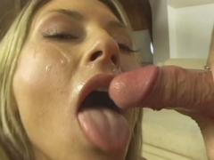 Pornstar Hottie Lisa Rose Lays On Her Side As She Gets Her S...