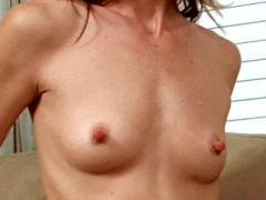 Petite Cougar Dee Dee Removes Her Top And Flaunts Her Tiny B...