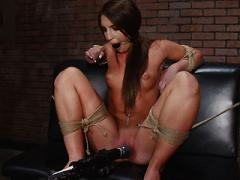 Lexi Brooks Brunette Pornstar Is Bound With Vibrator On Her ...