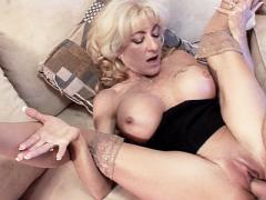 Blonde Milf Lexi Carrington Masturbates A Younger Cock While...