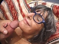 Lusty GILF Gets Cock Juice Sprayed On Her Face